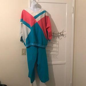 Vintage 80s track suit